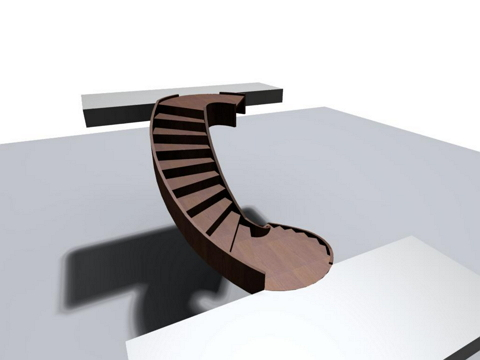 In This Example You Can Learn How To Modify An Elliptical Stair Support.  For The Support We Use The Handrail Element Of The Balustrade.