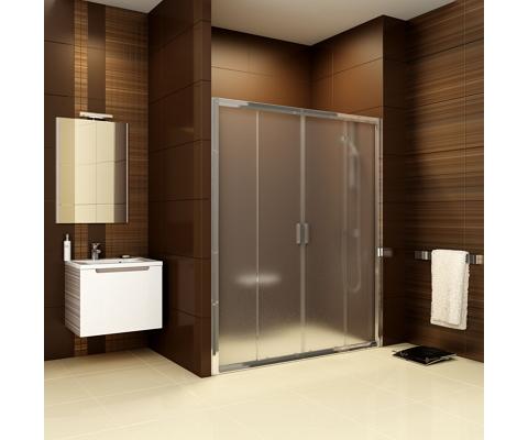 Blix shower door BLDP4-160 satin + transparent | Shower enclosures ...