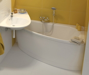 Avocado 160x75 right-hand bathtub white
