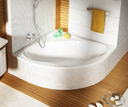 NewDay 150x95 bathtub white with front panel