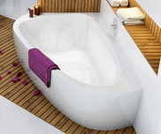 LoveStory II left-hand bathtub white