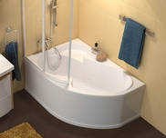 Rosa 140x105 left-hand bathtub white