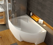 Rosa II 160x105 left-hand bathtub white