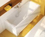 Classic 160x70 bathtub white with front panel