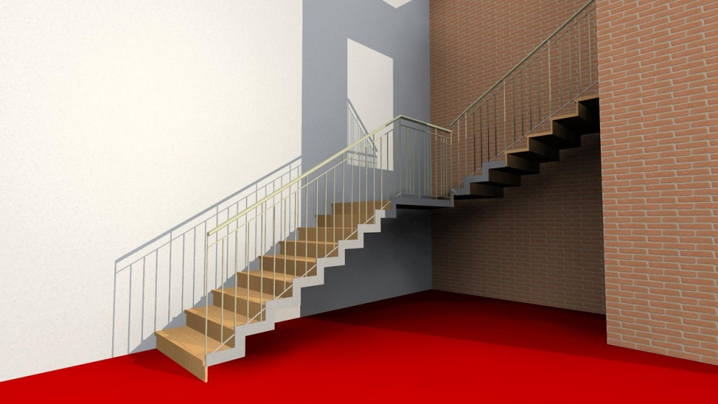 ARCHLine Project: Modern staircase 2