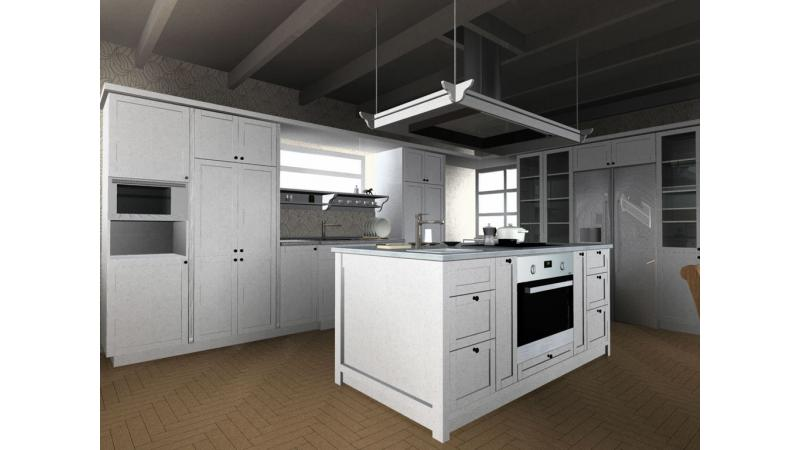 ARCHLine Project: Classic english kitchen island