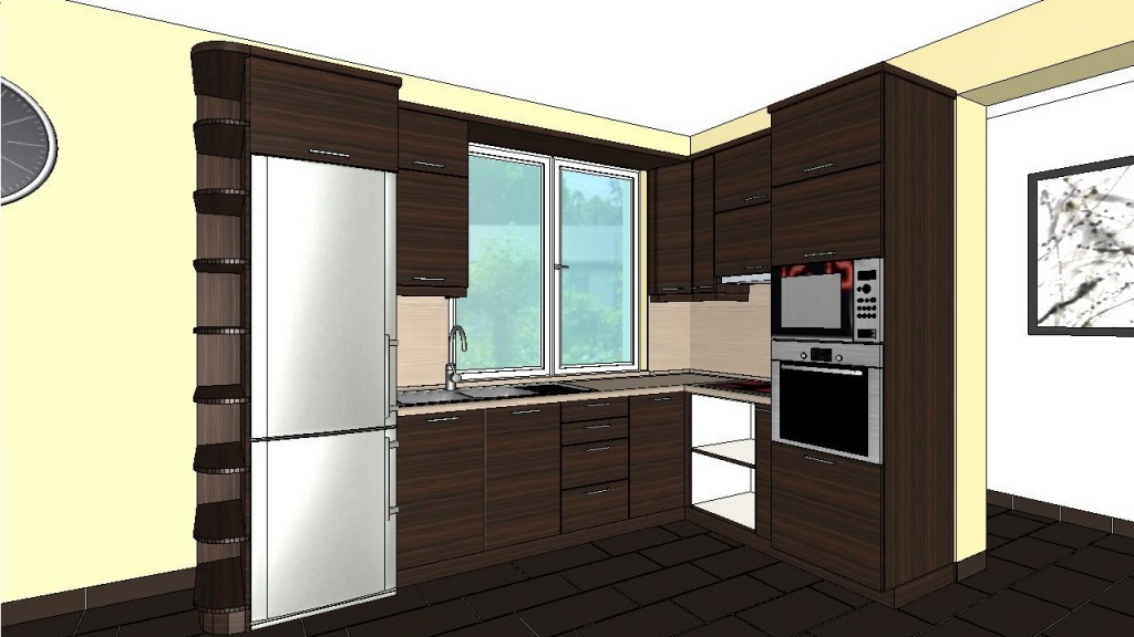 ARCHLine Project: Modern kitchen with appliances