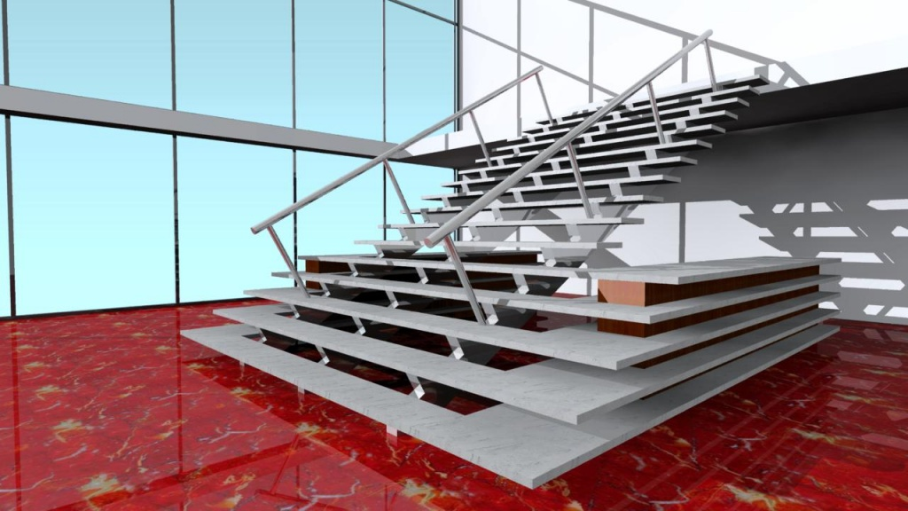 ARCHLine Project: Office reception stair