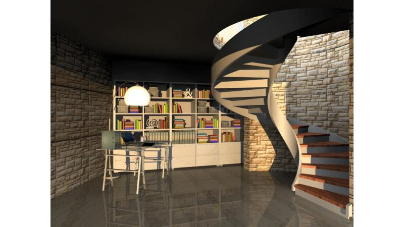 ARCHLine Project: Spiral stair